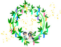 A Star Festival wreath Stock Images