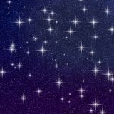 Star Field. Abstract background of a dark blue and purple twilight star field graphic Stock Photography
