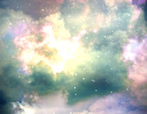 Star field against space nature background Royalty Free Stock Images