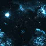 Star field in deep space many light years far from Royalty Free Stock Photos