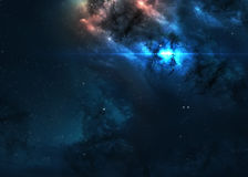 Star field in  deep space many light years far Royalty Free Stock Photos