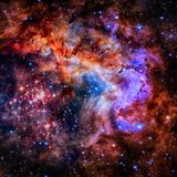 Star field and nebula in deep space. Elements of this image furnished by NASA royalty free stock photography