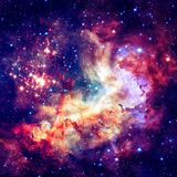 Star field and nebula in deep space. Elements of this image furnished by NASA. Star field and nebula in deep space. Elements of this image furnished by NASA royalty free stock photography