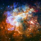Star field and nebula in deep space. Elements of this image furnished by NASA stock photography