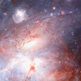 Star field and nebula in outer space. Elements of this image furnished by NASA stock photography