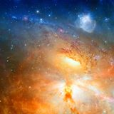 Star field and nebula in outer space. Elements of this image furnished by NASA stock image