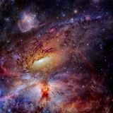 Star field and nebula in outer space. Elements of this image furnished by NASA stock photos