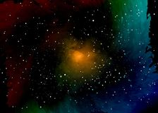 Star field in space and a nebulae. Abstract background of universe and a gas congestion. Spiral galaxy space with black holes. Vector nebula, for use with Stock Images