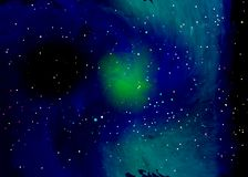 Star field in space and a nebulae. Abstract background of universe and a gas congestion. Spiral galaxy space with black holes. Vector nebula, for use with Royalty Free Stock Images