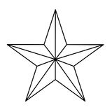 Star figure showing military authority. Icon image,  illustration Stock Photography