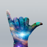 Star filled Hang Loose Royalty Free Stock Photo