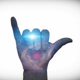 Star filled Hang Loose Royalty Free Stock Images