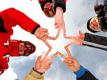 Star of fingers team Royalty Free Stock Image