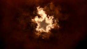 Star in the fire. Abstract Stock Photography