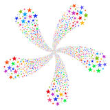 Star Fireworks Flower With Five Petals Royalty Free Stock Photography
