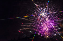 Star Fireworks Stock Images