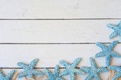 Star fish, beach, banner. Stock Photo