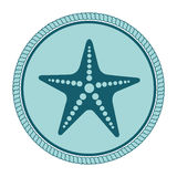 Star fish emblem isolated. Vector illustration design Stock Images
