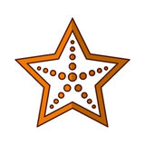 Star fish isolated icon. Vector illustration design Stock Image