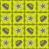 Star-fishes seamless pattern Royalty Free Stock Photography