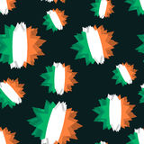Star flag of Ireland seamless pattern. Background of  Irish flag Stock Photos