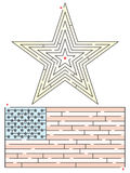 Star and Flag Maze Stock Images