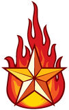 Star and flame. Star and the flame, a symbol of power and strength Stock Image