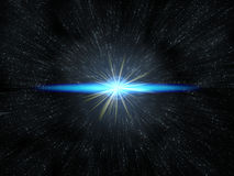 Star flare in deep space Royalty Free Stock Image