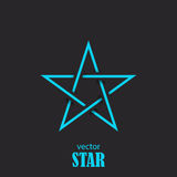 Star flat abstract symbol. Popularity concept. Vector  Royalty Free Stock Photography