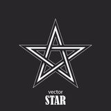 Star flat abstract symbol. Popularity concept. Vector  Stock Image