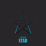 Star flat abstract symbol. Popularity concept Royalty Free Stock Images