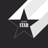 Star flat abstract symbol. Popularity concept Royalty Free Stock Photography