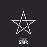 Star flat abstract symbol. Popularity concept Royalty Free Stock Image