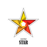 Star flat 3D abstract symbol. Popularity concept Royalty Free Stock Images