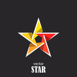 Star flat 3D abstract symbol. Popularity concept Royalty Free Stock Photos