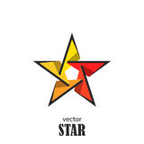 Star flat 3D abstract symbol. Popularity concept. Vector Illustration Royalty Free Stock Images