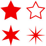 Star Flat Icons Stock Photography