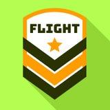 Star flight logo, flat style. Star flight logo. Flat illustration of star flight vector logo for web design stock illustration