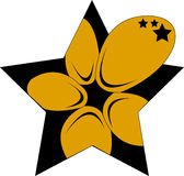 Star & Flower. A gold flower becoming a star royalty free illustration
