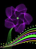 Star Flower Abstract in Purple Stock Photography