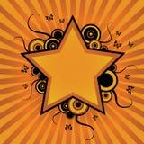 Star flower design. With butterflies Vector Illustration