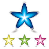 Star flower icon Stock Photography