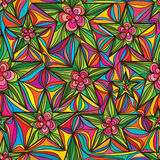 Star flower seamless pattern Stock Photography