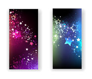 Star Flyers. Magic Lights Flyers with a lot of stars Stock Photography