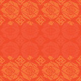Star four side top bottom orange seamless pattern Royalty Free Stock Photo
