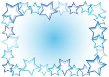 Star frame. Blue and violet  stars  frame Royalty Free Stock Photos