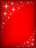 Star Frame. Red background with a border of stars vector illustration