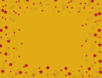 Star frame. With red and yellow stars stock image