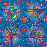 Star frame drawing seamless pattern Stock Photos