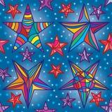 Star frame drawing seamless pattern Stock Photos